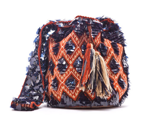 Peter Pilotto for the BeLive Wayuu Mochila Project, 2009. Photo courtesy Purse Blog.