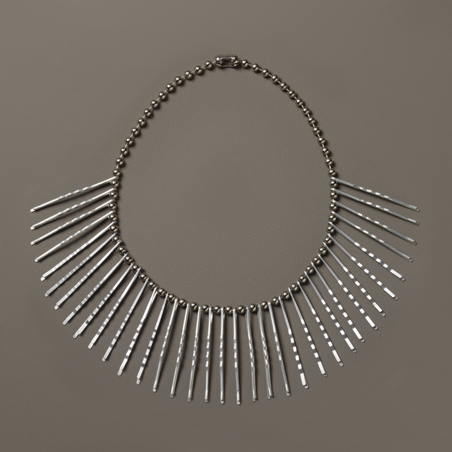 Anni Albers, Necklace, ca. 1940. Bobby pins on metal plated chain. Josef and Anni Albers Foundation, Bethany, Connecticut.