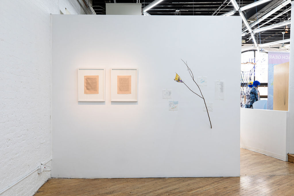 View of Subtle Speaks exhibition at the Textile Arts Center, showing the work of Yiden Zeng